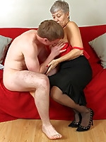 Mature British lady doing her toy boy