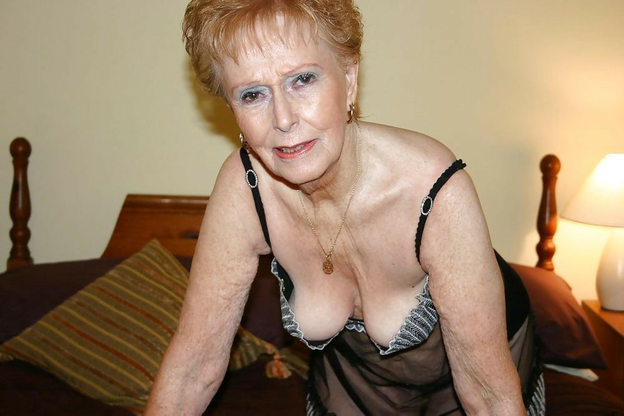 You lingerie grandma nude